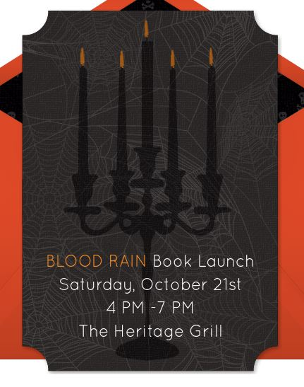 Book Launch – BLOOD RAIN